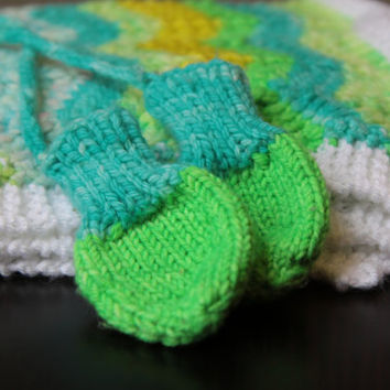 Thumbless Baby Mitts / Hand Knitted / 0-3 Months / Ready to Ship!