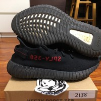 Come With Box Adidas yeezy boost 350 V2 Bred CP9652 Size 9 100% authentic