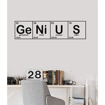 Vinyl Wall Decal Genius Chemical Lab Science Chemistry School Stickers Mural Unique Gift (ig5156)