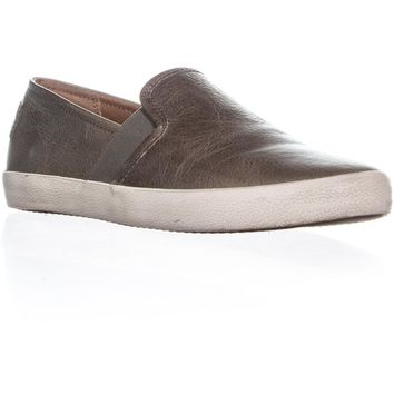 FRYE Dylan Slip-On Vintage Fashion Sneakers, Ash, 6.5 US