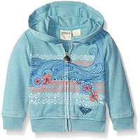 Roxy Girls' Wave Rider Hoodie, Cameo Blue, 12-18 Months
