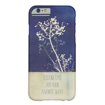 nature art custom case add your own quote text barely there iPhone 6 case