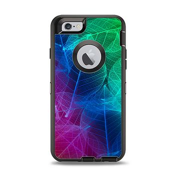 The Glowing Leaf Structure Apple iPhone 6 Otterbox Defender Case Skin Set