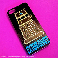HANDMADE Glitter DALEK Dr Who Tardis iPhone 4 4s 5 5s 5c  6 6 Plus  Samsung Android Phone Case cover David Tenant Rose Matt Smith Harkeness