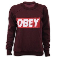 UNVC Women's Obey Sweater YOBEY Black Medium/Large