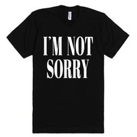 I'm Not Sorry T-shirt (whticl6181)-Unisex Black T-Shirt