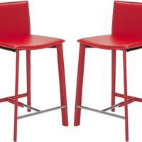 "Janet 24"" Counter Stool (Set Of 2) Red"