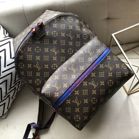 LV Louis Vuitton Fashion Women Casual Daypack School Bag Leather Backpack High Quality I-AGG-CZDL