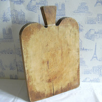 Vintage french wooden cutting board