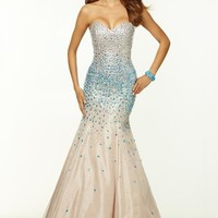 2015 Mori Lee Beaded Mermaid Prom Dress 97050
