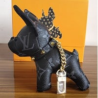 shosouvenir Louis Vuitton LV Cute Dog Bag Charm And Key Holder