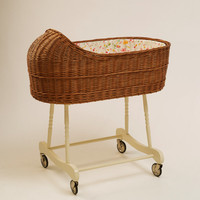 Wicker Baby Bassinet / Baby Crib Fragilis - Brown
