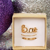 Sale-gold Bae 7-ring Set