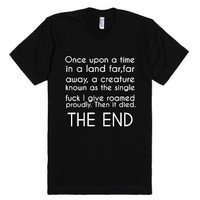 Once Upon a Time-Unisex Black T-Shirt
