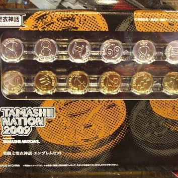 Bandai Saint Seiya Myth Cloth Tamashii Nation 2009 Emblem Coin Collection Figure Set