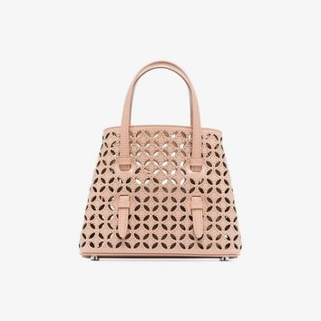nude Petale studded leather tote bag