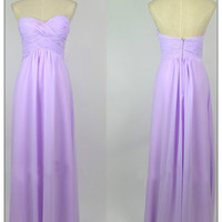 WowDresses — Gorgeous Lilac A-line Sweetheart Floor Length Prom Dress