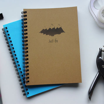 Just Go- Mountains - 5 x 7 journal