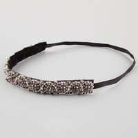 Full Tilt Rhinestone Beaded Headband Black One Size For Women 24827110001