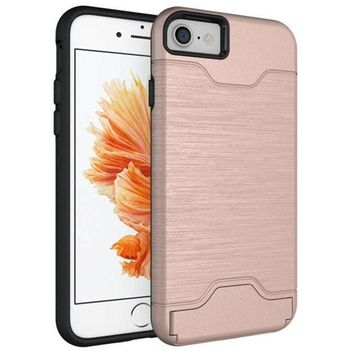 CREYV2S GBSELL New Fashion Slim Kickstand Credit Card Cover Case for iPhone 7 Plus