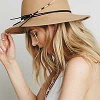 Brookes Boswell for Free People Womens Jackson Quill Felt Hat
