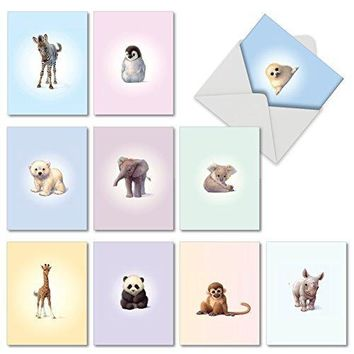10 Assorted Thank You Note Cards - Assorted All Occasions Cards With Envelopes - Funny Christmas cards - Fee Shipping