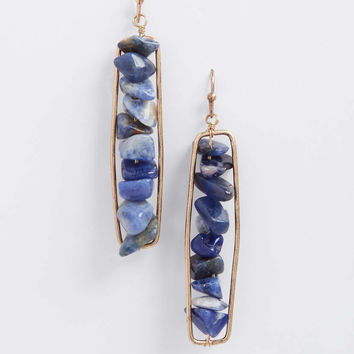 stacked lapis stone earrings | maurices