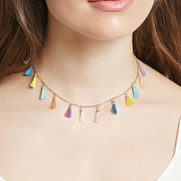 Multicolored Tassel Choker