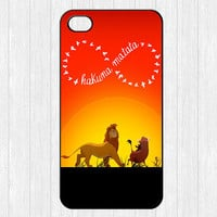 Hakuna Matata iPhone 4 Case,Infinity Lion king iPhone 4 4g 4s Hard Case,cover skin case for iphone 4/4g/4s case,More styles for you choose