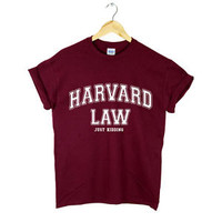 HARVARD LAW JUST KIDDING T SHIRT SWAG DOPE FRESH COCAINE CAVIAR NEW
