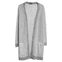 Buy Mango Mohair Wool Blend Cardigan, Light Pastel Grey | John Lewis