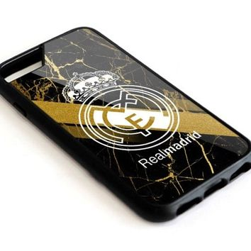 Real Madrid FC Poster Art iPhone 6 6s 7 8 X Plus Hard Plastic Protect Case