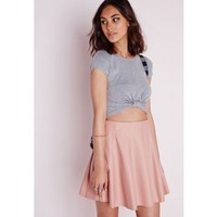 Capped Sleeve Knot Crop Top Grey - Cropped - T shirt - Tops - Missguided