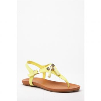 Lemon Faux Nubuck Tassel Thong Sandals @ Cicihot Sandals Shoes online store sale:Sandals,Thong Sandals,Women's Sandals,Dress Sandals,Summer Shoes,Spring Shoes,Wooden Sandal,Ladies Sandals,Girls Sandals,Evening Dress Shoes