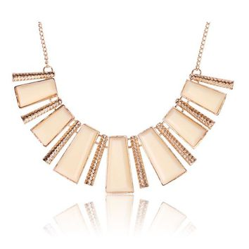 Tribal Collection Necklace Chunky White and Gold
