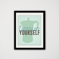 "Kitchen Print. Coffee Print. Espresso Yourself. Punny Poster. Silly Quote. Coffee Maker. Cute Quote. Inspirational. Funny. 8.5x11"" Print"