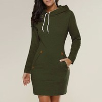 Easier hooded Sweater Dress