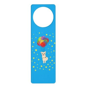 Puppy with Balloons Door Hanger