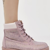 Mauve Diamond Crusher Boots