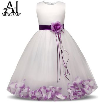 Flower Children's Girl Costumes For kids Princess Party Wedding Dresses Girls Clothes Teen Girl Evening Dress