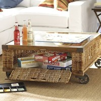 Woven Crate Coffee Table