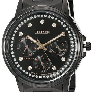 Citizen Eco-Drive Silhouette Black Stainless Steel Watch FD2047-58E