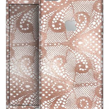 Rose Gold Lace Pattern 1 - Skin-kit for the iPhone 8 or 8 Plus