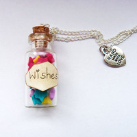Wishing Star Jar Necklace by YummyClay on Etsy