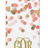 Pink and Gold Glitter Monogram  Phone Case