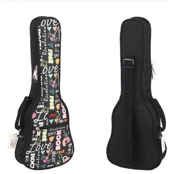 "girl gift 21""23 ""26 inches concert soprano ukulele guitar bag case package Lanikai Kala Ukes gig soft pink black shoulder straps"