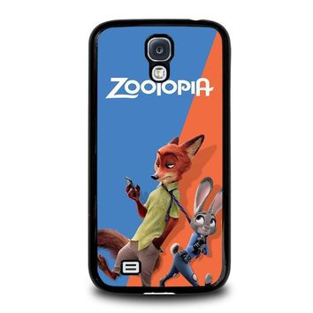 zootopia nick and judy disney samsung galaxy s4 case cover  number 1