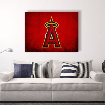 Angels of Anaheim vintage style Canvas Print, vintage baseball decor, baseball wall decor, apartment decorating ideas, anaheim angels,Angels