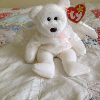 Beanie Baby Angel Bear with Luminescent Wings