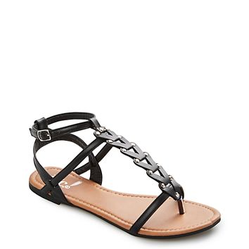 Chain Studded T-Strap Sandal